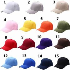 Solid Plain Washed Hat Cotton Style Baseball Ball Cap new Adjustable Colorful