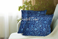 Indian Block Printed Cotton Pillow Throw Floral Cushion Cover Ethnic Decor 2 Pc