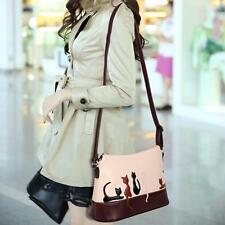 Women Cat Rabbit Leather Shoulder  Messenger Bag Cross Body Handbag Purse Tote