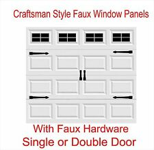 Craftsman Style Vinyl Garage Door Decal Kit Faux Windows & Hardware