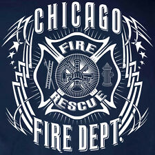 Chicago Fire Department T-shirt Tribal – Sizes S to 5XL Short/Long Sleeve