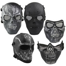 Tactical Military Army Full Face Mask Paintball Airsoft Skeleton Skull Mask