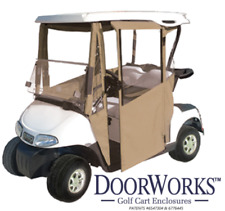 DoorWorks Hinged Door Golf Cart Enclosure. Marine Grade Vinyl. W Free Shipping.