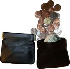 New Leather Squeeze change purse with Credit card space change purse moneda bnwt