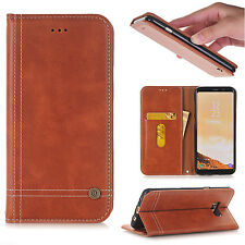 Luxury Leather Magnetic Stand Wallet Case Cover For Samsung Galaxy S5/6/7/8+Plus