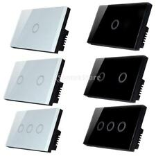 1/2/3 Gang One Way Glass Touch Panel Wall Light Switch Lamp Light Switches-120V