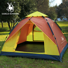 4 Person Double layer Waterproof Travel Camping Instant Automatic Pop Up Tent