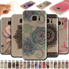 For Samsung Phone Fashion Clear Skin Pattern Case Soft TPU IMD Cover Rubber Back