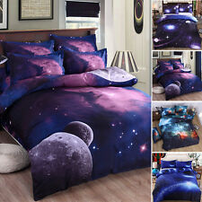 3D Effect Sky Galaxy Printed Duvet Space  Quilt Cover Bedding Set+Pillow Cases