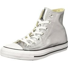 Converse Chuck Taylor All Star Metallic Hi Gunmetal Textile Trainers Shoes