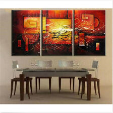 3PC Hot Oil Painting Abstract Modern Art Canvas Wall Parlor Bedroom With Framed