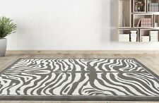 RUGS AREA RUGS CARPET FLOORING 1802 GREY ZEBRA CARPET LARGE NEW AREA RUG