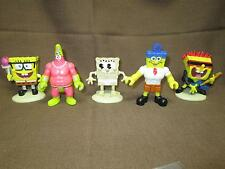 Nickelodeon Nick Spongebob Squarepants + Patrick Star Cake Toppers Lot of 5