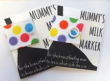 MUMMY'S MILK MARKER - Breastfeeding maternity bra reminder clip baby shower gift