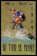 Tour de France 1925 VINTAGE CYCLING  METAL TIN SIGN POSTER WALL PLAQUE