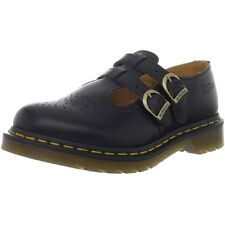 Dr Martens 8065 Mary Jane Black Leather Derby Shoes