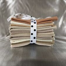 Mix Felt Craft Pack Teddy Beige Colours -10 Squares Per Pack - 5 different sizes