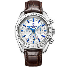 Sekaro Mens Automatic Genuine leather Water Resistant Analog Date Fashion watch