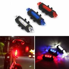 1PC Rechargeable Portable USB Bike Tail Light Bicycle Rear Safety Lamp Cycling