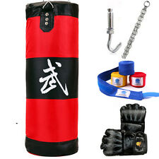 Boxing Bag Training Punching Mma Heavy With Gloves Speed Everlast Workout Kit