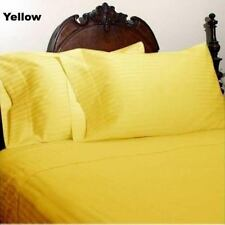 1000TC 100%EGYPTIAN COTTON DUVET COVER SET COLLECTION US SIZE YELLOW STRIPES!