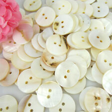20/50/100 Mother of Pearl Real Shell Round 2-hole Sewing Buttons 18mm buttons