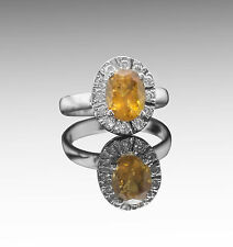 925 Sterling Silver Ring with Oval Cut Natural Yellow Tourmaline Gemstone eBay.