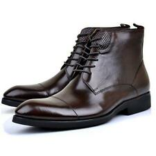 Mens Formal Dress Ankle Boots Pumps Casual Leather Motor Lace Up Chic New Shoes