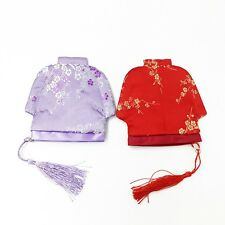 Ladies Embroidered Brocade Silk Like Coin Purse Chinese Style Wallet Gifts Craft