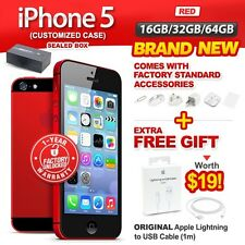 New & Sealed Factory Unlocked APPLE iPhone 5 16GB 32GB 64GB Red 1 Year Warranty