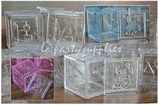 12 Fillable Blocks Girl/Boy Baby shower Or Welcome Baby Party Favors Pink/Blue