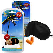 Sure Travel Black-out Comfort Sleeping Rest Pull On Eye Mask Shade + Ear Plugs