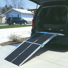 Folding Utility Ramp Handicap Wheelchair Scooter Mobility Access Loading Ramp