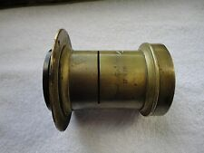 Antique Brass Camera Lens Signed - RAPID RECTILINEAR 8 X 10