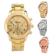 New Fashion Geneva Lady Women Girl Unisex Stainless Steel Quartz Wrist Watch_US
