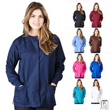 New Unisex Natural Uniforms Medical Nursing Scrubs Warm Up Jacket 3 Pockets