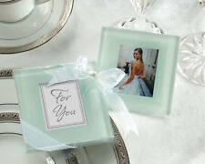 144 Forever Photo Glass Coasters Sets Wedding Bridal Shower Party Favors Lot