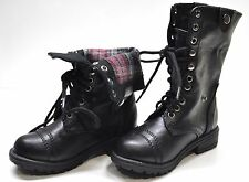 New Soda Oralee-2S Girl Lace Up Fold Cuff Military Combat Boot