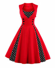 Killreal Women's 50s Vintage Retro Sleeveless Cocktail Party Casual Swing Dress