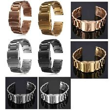 18/20/22/24MM Stainless Steel Watch Band Strap Double Lock Bracelet Straight