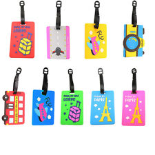 Fashion Suitcase Luggage Tags Label Baggage Case Address Card Travel Holiday