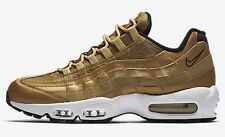 Nike AIR MAX-95 PREMIUM QS MEN'S SHOES, GOLD/BLACK/WHITE- Size US 11, 11.5 Or 12