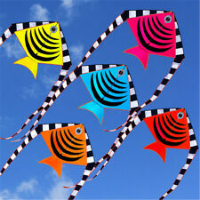 1.2m 3D Flying Fish Kite With Tail Outdoor Fun Sport Game Children Kids Toy Hot