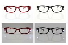 Multifunction Unisex Classic Reading Eye Glasses Spectacal With LED Light New