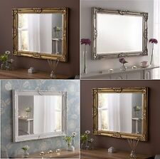 Large Wall Mirror Ornate Vintage Furniture French Shabby Chic Venetian Rectangle
