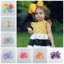 1PC Lovely Girl Bow Grosgrain Hair Clip large Ribbon Butterfly Hairpin Children*
