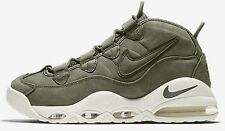 Nike AIR MAX UPTEMPO MEN'S SHOES Suede Upper URBAN HAZE/WHITE- Size US 9 Or 12.5
