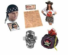 #ADULT CARIBBEAN PIRATE ACCESSORIES HALLOWEEN FANCY DRESS PARTY ALL KINDS