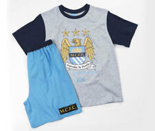 AGE 18/24 Mths + 2/3 Yrs BOYS OFFICIAL MANCHESTER CITY PYJAMAS SHORT BOTTOMS PJ