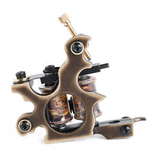 Liner And Shader Brass Tattoo Machine Gun Handmade 12 Wraps Pure Copper Coils